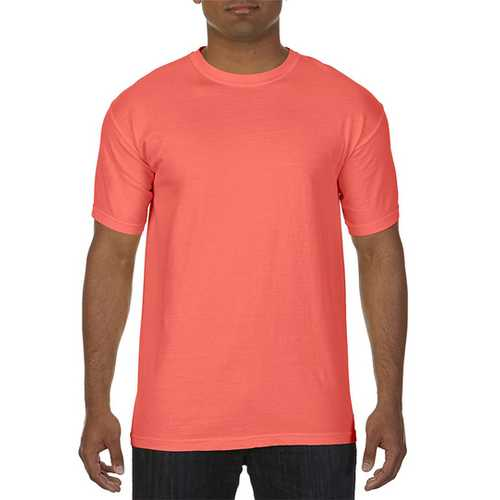 Case of [12] Comfort Colors First Quality - Garment Dyed Short Sleeve T-Shirts - Bright Salmon - Medium