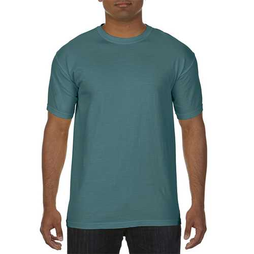 Case of [12] Comfort Colors First Quality - Garment Dyed Short Sleeve T-Shirts - Blue Spruce - XL