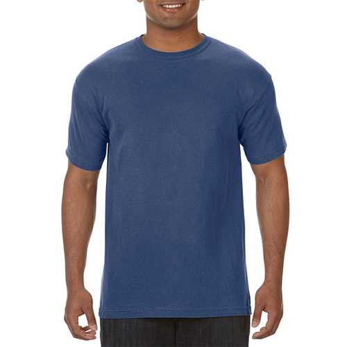 Case of [12] Comfort Colors First Quality - Garment Dyed Short Sleeve T-Shirts - China Blue - XL