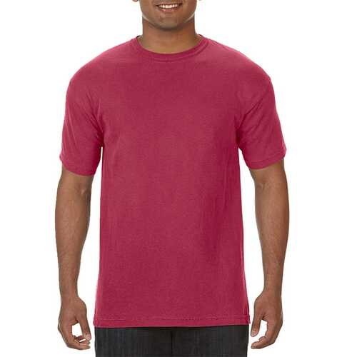 Case of [12] Comfort Colors First Quality - Garment Dyed Short Sleeve T-Shirts - Chili Pepper - Large