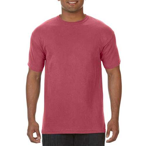 Case of [12] Comfort Colors First Quality - Garment Dyed Short Sleeve T-Shirts - Crimson - Medium