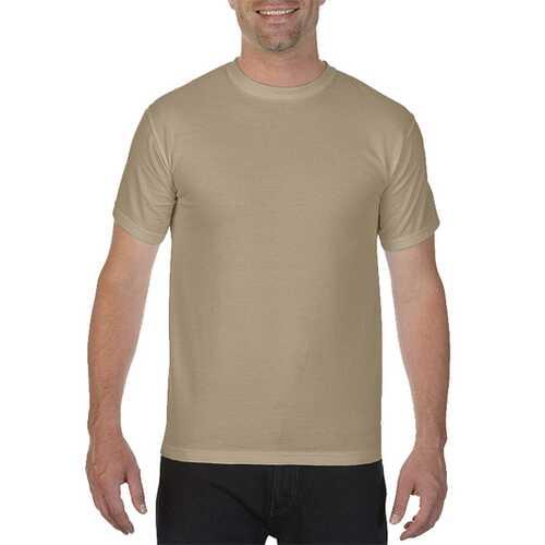 Case of [12] Comfort Colors First Quality - Garment Dyed Short Sleeve T-Shirts - Khaki - Medium