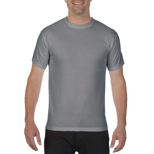Case of [12] Comfort Colors First Quality - Garment Dyed Short Sleeve T-Shirts - Granite - XL