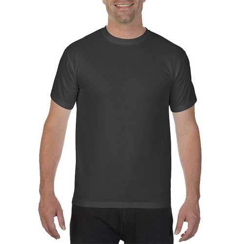 Case of [12] Comfort Colors First Quality - Garment Dyed Short Sleeve T-Shirts - Graphite - 2X