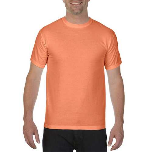 Case of [12] Comfort Colors First Quality - Garment Dyed Short Sleeve T-Shirts - Melon - Large