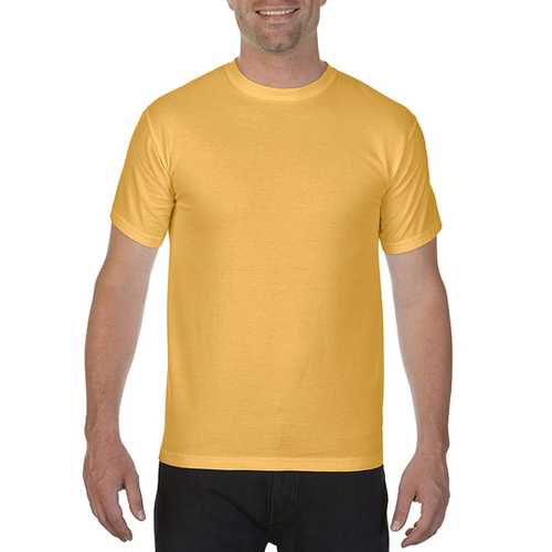 Case of [12] Comfort Colors First Quality - Garment Dyed Short Sleeve T-Shirts - Mustard - Large