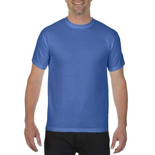 Case of [12] Comfort Colors First Quality - Garment Dyed Short Sleeve T-Shirts - Mystic Blue - Medium