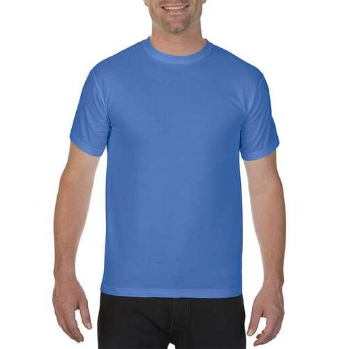 Case of [12] Comfort Colors First Quality - Garment Dyed Short Sleeve T-Shirts - Mystic Blue - Large