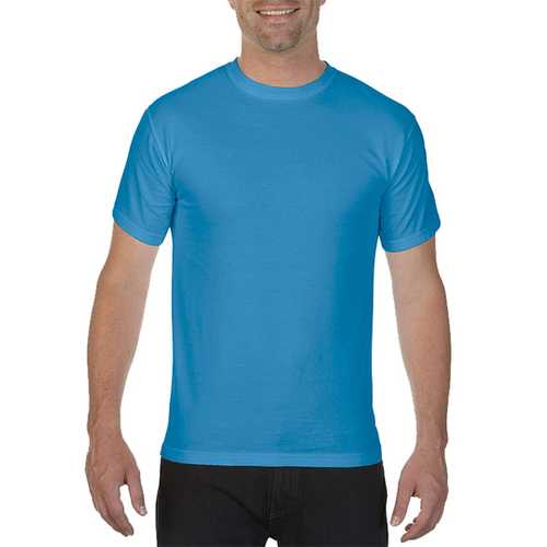Case of [12] Comfort Colors First Quality - Garment Dyed Short Sleeve T-Shirts - Royal Caribe - Medium