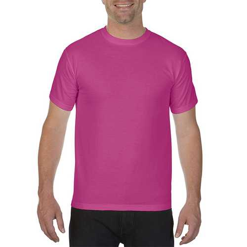 Case of [12] Comfort Colors First Quality - Garment Dyed Short Sleeve T-Shirts - Raspberry - Large