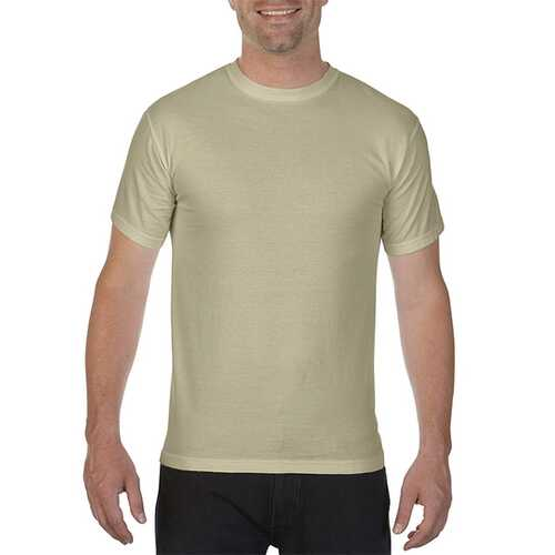 Case of [12] Comfort Colors First Quality - Garment Dyed Short Sleeve T-Shirts - Sandstone - Large