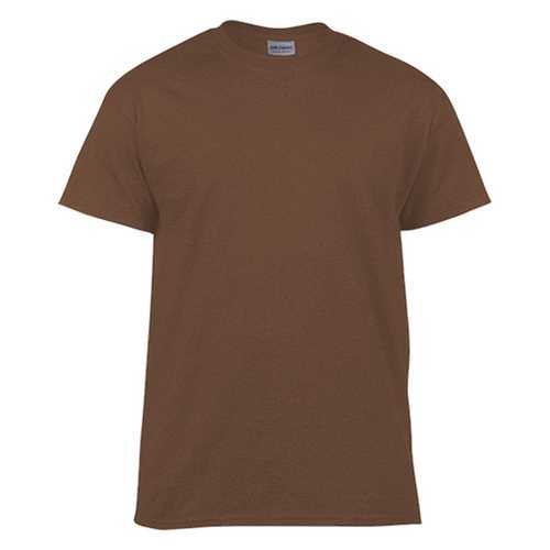 Case of [12] Gildan First Quality - Adult T-Shirt Tearaway Label - Dark Chocolate - Large
