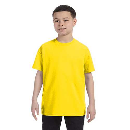 Case of [12] Anvil - Anvil Youth Heavyweight T-Shirt - Neon Yellow - Small