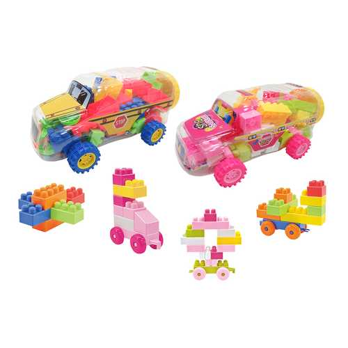 Case of [24] Building Block Vehicle Play Set - Bus