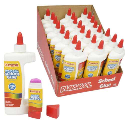 Case of [24] 2 Piece Playskool Value Pack Glue Set