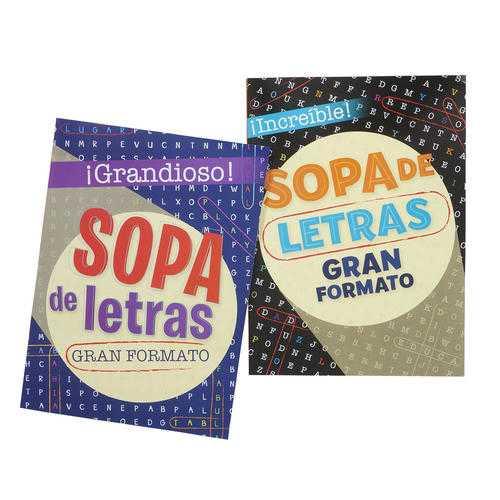 Case of [48] 80 Page Sopas De Letras Spanish Crossword Book # 5