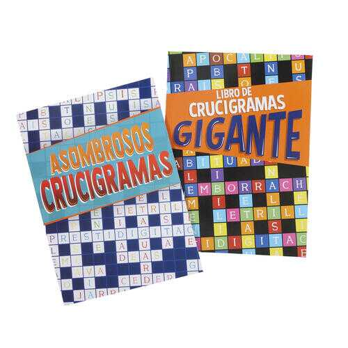 Case of [48] Assorted 80 Page Spanish Crossword Book