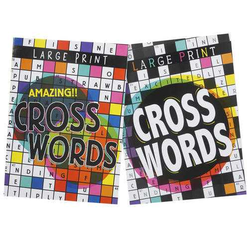 Case of [48] Assorted 80 Page English Crossword Book