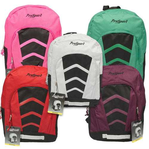 "Case of [24] 17"" Prosport Classic Arrow Backpack - 5 Assorted Colors"