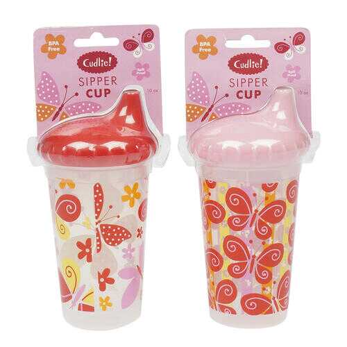 Case of [144] Cudlie! Sipper Cup - 10 oz - Assorted - Pink