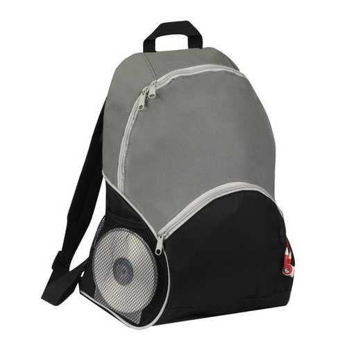 """Case of [25] 16"""" Classic Grey Backpack - 2 Side Mesh Pockets"""