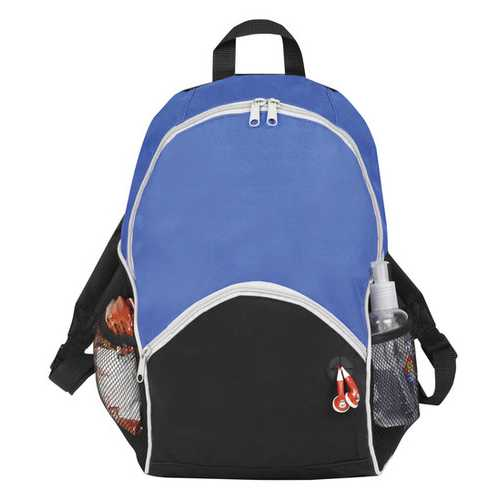 """Case of [25] 16"""" Classic Blue Backpack - 2 Side Mesh Pockets"""