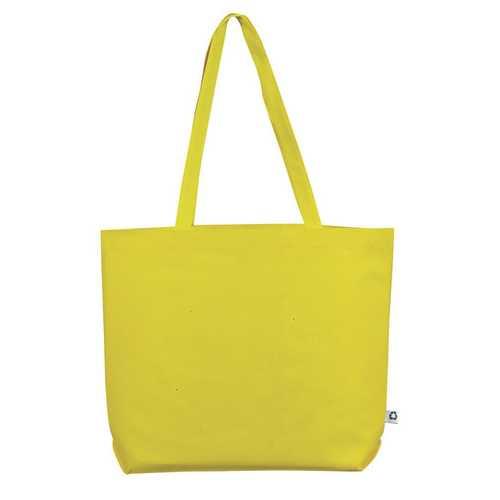 Case of [100] Jumbo Shopping Tote Bag - Yellow