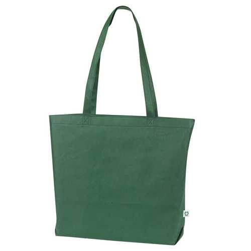 Case of [100] Jumbo Shopping Tote Bag - Green