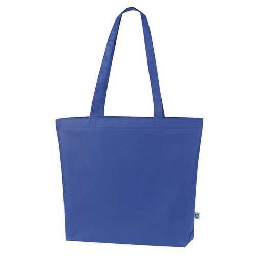 Case of [100] Jumbo Shopping Tote Bag - Blue