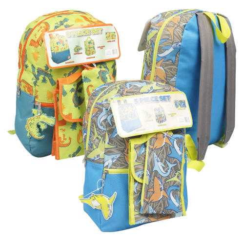 """Case of [24] 16""""Classic Dragon Backpack Set - 5 Piece - Assorted"""