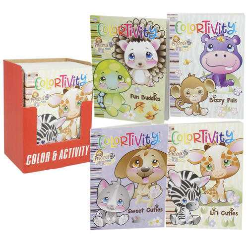 Case of [24] Precious Paws Colortivity Coloring Book Display - Assorted