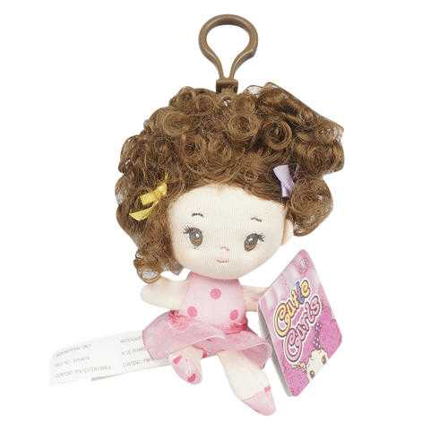 "Case of [144] Avery 4"" Plush Doll Clip-On"