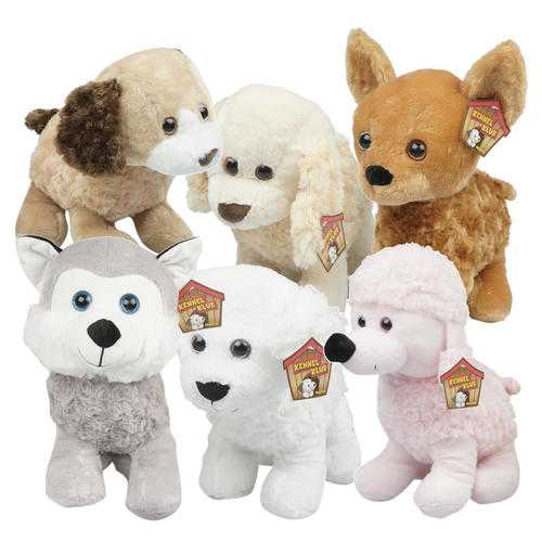 "Case of [12] 12.5"" Puppy Plush Toy - Assorted Styles"