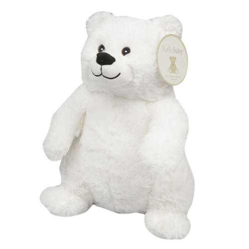 "Case of [12] 15"" Polar Bear With Rattle Plush Toy - White"