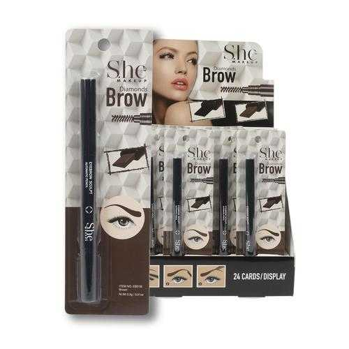 Case of [144] She Makeup Brow Color - Brown, Black