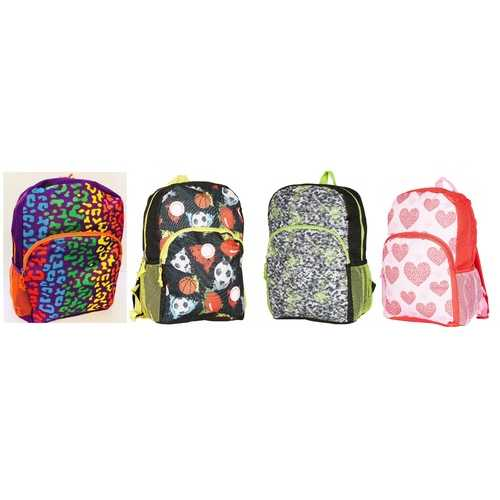 "Case of [24] 15"" Character Backpacks - 4 Assorted Characters"