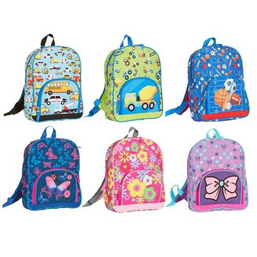 "Case of [24] 14"" Character Backpacks - 3 Assorted Characters"
