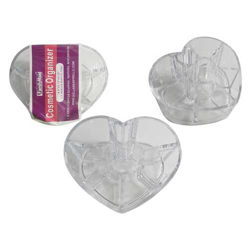 Case of [48] Heart Shaped Cosmetic Organizer