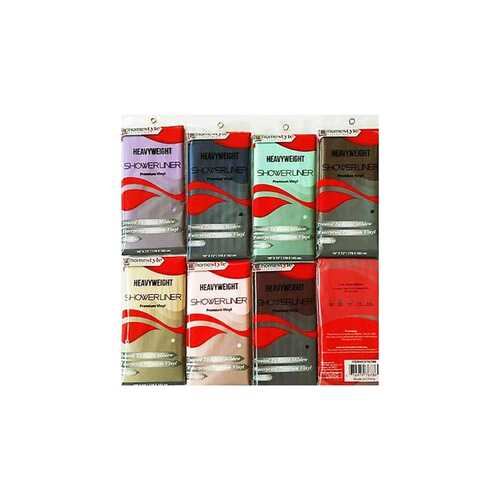 Case of [48] Heavyweight Shower Curtain Liner - Assorted Colors