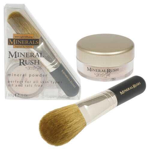Case of [144] Jesse's Girl Mineral Rush Powder & Brush - 0.12 oz, Light