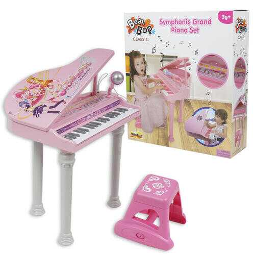 Case of [2] Beat Bop Classic Symphonic Grand Piano Set - Pink