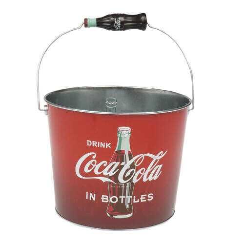 Case of [12] Coca Cola Bucket- Red