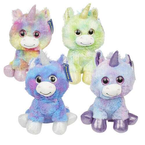 """Case of [24] 12"""" Unicorn Plush Toy - Assorted Colors"""