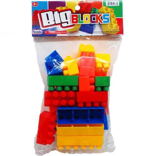 Case of [36] 28 Piece Jumbo Blocks Play Set