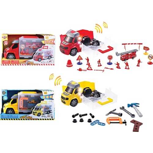 Case of [12] Rescue/Build Engine Play Set with Carry Case