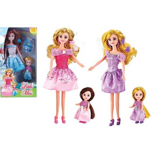 """Case of [48] """"Little Miss"""" Mother & Daughter Fashion Doll Set - Assorted"""