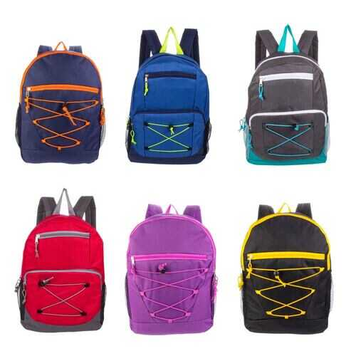 "Case of [24] 17"" Classic Backpack - 12 Assorted Options"