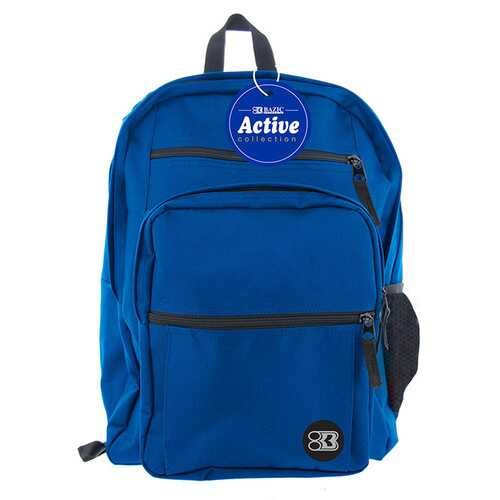 "Case of [12] 17"" BAZIC Premium Active Backpack - Blue"