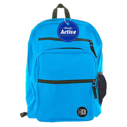 "Case of [12] 17"" BAZIC Premium Active Backpack - Cyan"