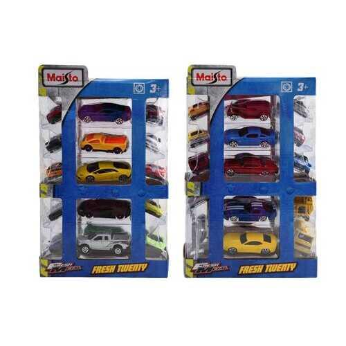Case of [12] Maisto Window Box Vehicles - 20 Pack